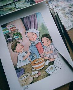 Sükut-u Lisan Selameti İnsan Cute Cartoon Drawings, Cartoon Art, Hijab Drawing, Islamic Cartoon, Simple Canvas Paintings, Anime Muslim, Hijab Cartoon, Pictures To Draw, Anime Art Girl