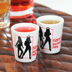 Cute Devilish shot glasses for a bachelorette party!