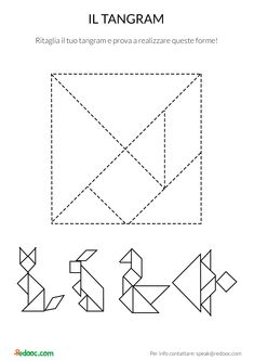 Tangram Printable, Shapes Worksheets, Fun Fold Cards, Math For Kids, Brain Teasers, Colouring Pages, Pattern Blocks, Kids Education, Teaching Math