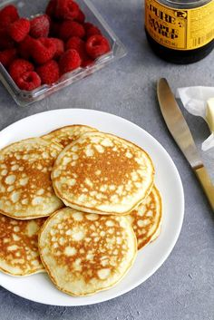 Fluffy Coconut Flour Pancakes   girlversusdough.com @girlversusdough #glutenfree #breakfast #recipe