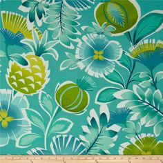 P Kaufmann Indoor/Outdoor Calypso Turquoise (potential fabric for wrought iron chairs)