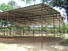 60ft Covered Round Pen with Sprinkler System