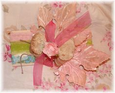 vintage velvet millinery flowers and leaves by Bluebird Becca, via Flickr