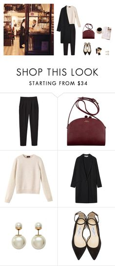 """""""Nº 003"""" by leaudemer ❤ liked on Polyvore featuring Monki, Tom Ford, A.P.C., Gérard Darel, Christian Dior and Jimmy Choo"""