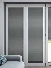 BiFold ClickFIT Slate Grey thumbnail image Grey Blinds, Curtains With Blinds, Window Coverings, Window Treatments, Blinds For Bifold Doors, Thumbnail Image, House Extensions, Table And Chairs, Building A House