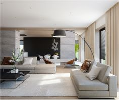 clean neutral colour palette | contemporary living room