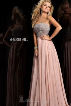 Yeah, I know it's pink, but hear me/you out: it's a muted dusty rose and you DID wear that hot-pink floral sequined monstrosity to Homecoming sophomore year. Plus: beaded bodice. And the fabric on the skirt looks soft, right? Think about it?