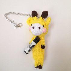 Amigurumi Giraffe Crochet Giraffe Crochet Chapstick by AmiAmiGocco
