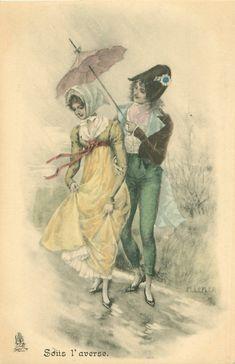 Коллекция картинок: Старинные французские открытки.Кавалеры и дамы.