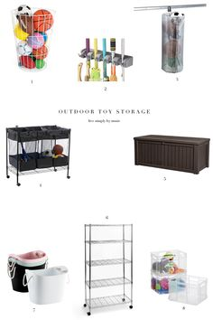simplify outdoor toy storage just in time for summer!