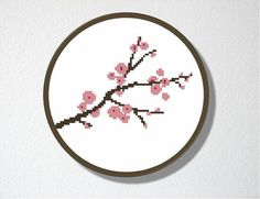 Counted Cross stitch Pattern PDF Cherry by CharlotteAlexander, $4.00