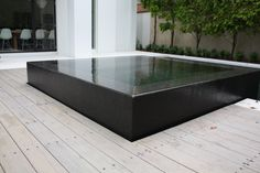 Spotted Gum Decking Black Tiles And Decking On Pinterest