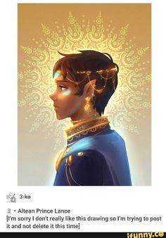 Altean Lance - the artist is crazy this is beautiful