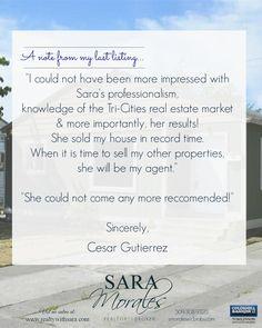 Testimonial of a happy seller!