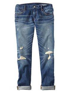 1969 destructed sexy boyfriend jeans   Gap