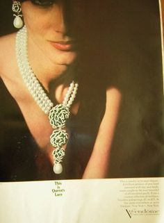 1963 Vendendome jewelry ad 'This is Queen's Lace'