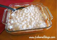 Thanksgiving side dishes--Sweet Potato Casserole
