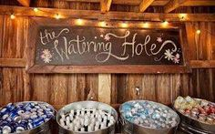 The watering hole. Country wedding