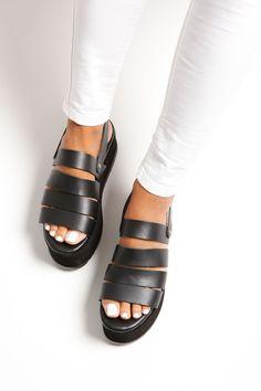 Black Greek Sandals Wedges Platform Sandals Slip On Sandals Gladiator Sandals Outfit, Boho Sandals, Black Sandals, Wedge Sandals, Suede Leather Shoes, Leather Sandals, Summer Wedges, Beautiful Sandals, Ancient Greek Sandals