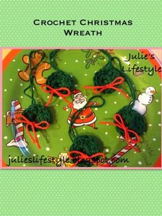 Julie's Lifestyle: Crochet Christmas Wreath Ornament & Pattern