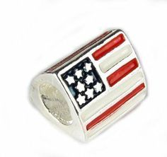 "Silver Tone 3 Sided "" American Flag "" Bead Charm Fits Pandora Troll Chamilia Biagi Bracelet and Other Add-a-bead Bracelets SEXY SPARKLES. $4.99. Quantity: 1 Bead. Fits: All major Brand Bracelets, such as Pandora, Troll, Chamilia, Carlo Biagi, Zable, and other add-a-bead bracelets."