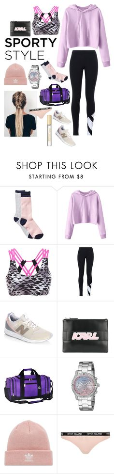 """""""Sporty"""" by heidibartholdy on Polyvore featuring Free Press, adidas Originals, New Balance, Karl Lagerfeld, Everest, GUESS, adidas, River Island and Michael Kors"""