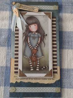 Hand Made Dolly Card featuring popular Gorjuss by CrowHouseDolls, £4.00