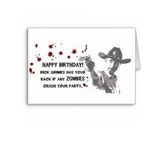 The Walking Dead Rick Grimes Birthday Card