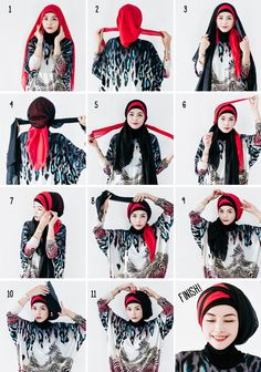 hijabholicanism: TWO LAYERED HIJAB TUTORIAL