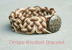 Cool DIY Ombre Knotted Bracelet. Easier to follow than the other one I tried. Still didn't turn out like I wanted it to.