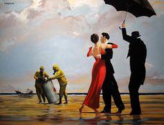 Banksy - Dancing Butler on a Toxic Beach.
