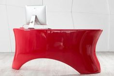 Bold and Sleek Eye Candy: Red Hot Ely Desk Check more at http://furnituremodel.info/22180/bold-and-sleek-eye-candy-red-hot-ely-desk/