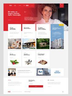 EQ Magazine on Behance Magazine Website, Web Magazine, Restaurant Web, Event Website, Ux Design, Design Set, Flat Design, Design Ideas, Ui Web