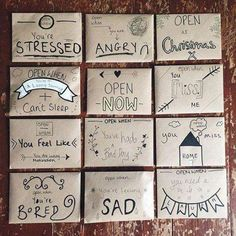 Ideas birthday gifts ideas for boyfriend diy open when letters Bf Gifts, Diy Gifts For Friends, Birthday Gifts For Best Friend, Noel Gifts, Best Friend Graduation Gifts, Christmas Presents For Friends, Best Friend Presents, Diy Graduation Gifts, Easy Gifts