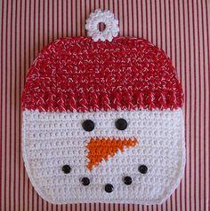 crocheted snowman pot holder pattern 2.25