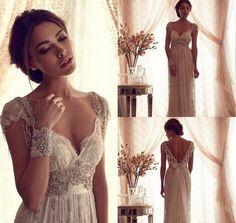 Backless Wedding Ball Gown Beach Plus Size by LoveBirdsBakery, $259.95