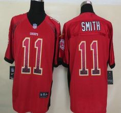 Nike NFL Kansas City Chiefs Jerseys #11 Alex Smith Drift Fashion Red Elite Jersey