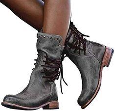 flat Winter warm suede black//grey boots 3-8 lovers lane ladies wide calf