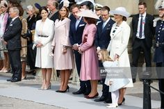 (L-R) Princess Sofia, Princess Madeleine of Sweden,Christopher O'Neill, Queen Silvia of Sweden, Prince Daniel of Sweden, Crown Princess Victoria of Sweden and Princess Estelle of Sweden are seen at the celebrations of the Swedish Armed Forces for the 70th birthday of King Carl Gustaf of Sweden on April 30, 2016 in Stockholm, Sweden. (Photo by Luca Teuchmann/Getty Images)