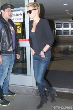 Charlize Theron at LAX Airport in Los Angeles, California - April 3, 2013