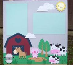 Fun barnyard layout using Create A Critter!! - Scrappy Vee