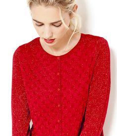 Gilet scintillant rouge Camaïeu 2016