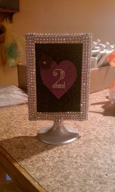 DIY Bling Table Numbers Opinions Please! :) :  wedding purple silver reception