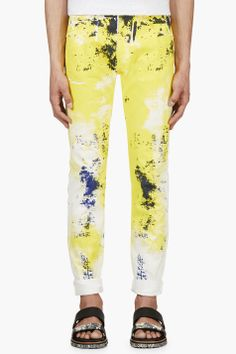 VERSACE YELLOW & Blue PAINTer JEANS