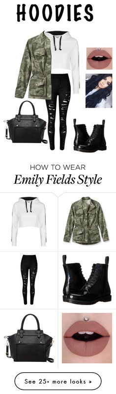 """""""Hoodie For The Fall"""" by kayla-rampersaud on Polyvore featuring Topshop, L.L.Bean, Dr. Martens and Pink Haley"""