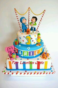 Pocoyo Torta Baby Shower, Torta Paw Patrol, Naked Cakes, Cupcakes, Birthday Parties, Birthday Cakes, Cakes And More, Cake Designs, First Birthdays