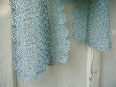 clochette bleu crochet étole 032