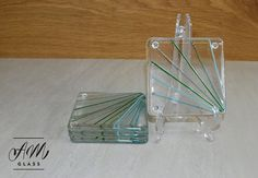 Fused glass coasters set of 4 by AMGlassStudio on Etsy