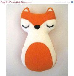 ON SALE Christmas Fox Woodland Animal Felt Plush Toy - Freddy The Fox - Valentines Day Gift on Etsy, $20.00