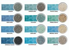 grey coping pools | Pool Plaster - White & Grey River Rok Pebble Finish Diamond Brite Pool ...